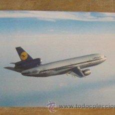 Postales: POSTAL ANTIGUA LUFTHANSA BOEING 747 . Lote 45016279