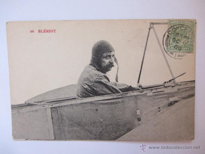 BLERIOT. CIRCULADA 1909. (Postales - Postales Temáticas - Aeroplanos, Zeppelines y Globos)