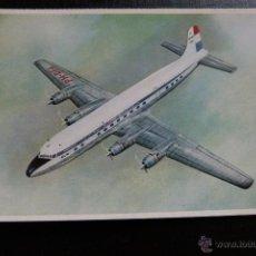 Postales: POSTAL DE AVIONES - AVION - DOUGLAS DC- 6B - KLM. Lote 45408873