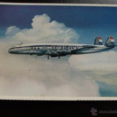 Postales: POSTAL DE AVIONES - AVION - LOCKHEED SUPER CONSTELLATION L 1049 G KLM. Lote 45506101
