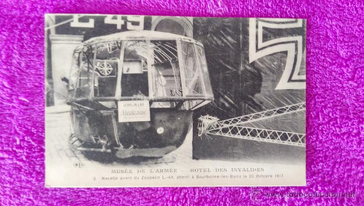 POSTAL FOTOGRAFIA, MUSEE DE L'ARMEE-HOTEL DES INVALIDES, ZEPPELIN L.-49. 1917 (14X9) (Postales - Postales Temáticas - Aeroplanos, Zeppelines y Globos)