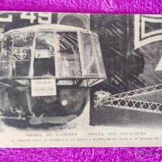 Postales: POSTAL FOTOGRAFIA, MUSEE DE L'ARMEE-HOTEL DES INVALIDES, ZEPPELIN L.-49. 1917 (14X9). Lote 45554916