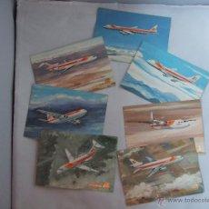Postales: LOTE DE SIETE POSTALES DE AVIONES DE IBERIA. Lote 56124651