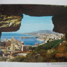Postales: TARJETA POSTAL MALAGA PUBLICIDAD AVION IBERIA, CIRCULADA AÑOS 70. Lote 46006599