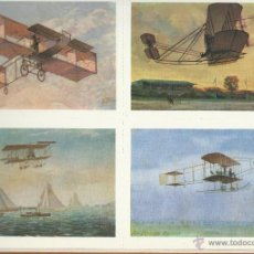 Postales: BONITA COLECCION COMPLETA DE 24 POSTALES DE TRANSPORTES DE LOS SIGLOS XIX-XX VER FOTOS. Lote 46197654