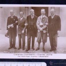 Postales: CLARENCE CHAMBERLIN-CHARLES LEVINE.DIE HELDENFIEGER AMERIKA-DEUTSCHLAND.SIN CIRCULAR.. Lote 46407676