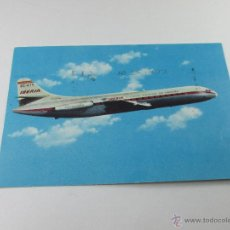 Postales: Aª POSTAL-AVIÓN IBERIA-CARAVELLE VI.R-1965-CIRCULADA-SELLADA-VER FOTOS.. Lote 46432267