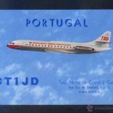 Postales: PORTUGAL- TAP. *CARAVELA VI-R* POSTAL PARA RADIO-AFICIONADO. DORSO TAMPÓN 1965. CIRCULADA.. Lote 4591715