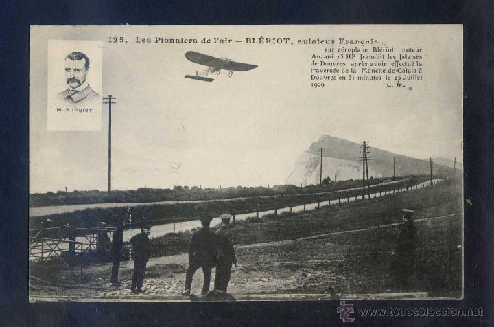 FRANCE *LES PIONNIERS DE L´AIR - BLÉRIOT, AVIATEUR FRANÇAIS* CIRCULADA 12 SEP. 1909. (Postales - Postales Temáticas - Aeroplanos, Zeppelines y Globos)