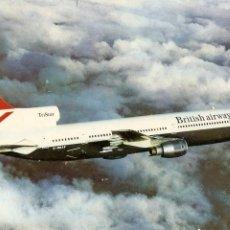 Postales: POSTAL AVIÓN, BRITISH AIRWAYS LOCKHEED TRISTAR. Lote 46727705