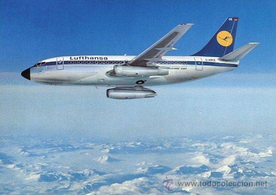 BOEING 737-LUFTHANSA (Postales - Postales Temáticas - Aeroplanos, Zeppelines y Globos)