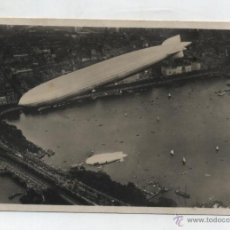 Postales: EL GRAF ZEPPELIN Y EL PERSIVAL SOBRE HAMBURGO. FRANQUEADA Y FECHADA EN HAMBURGO 18-7-1931. PORTEADA . Lote 48445459