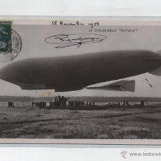 Postales: LE DIRIGEABLE PATRIE. FRANQUEADO Y FECHADO EN GARTIER EN 1928. DESTINO SEVILLA.. Lote 48445620