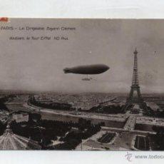 Postales: PARIS.- LE DIRIGEABLE BAYARD CLEMENT DOUBLANT LA TOUR EIFFEL. FRANQUEADO Y FECHADO EN PARIS EL 3-11-. Lote 48445773