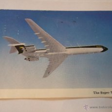 Postales: POSTAL AVION - THE BOAC SUPER VC10 - BRITISH AIRCRAFT CORPORATION - CIRCULADA 1966. Lote 48520342