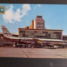 Postales: AVIÓN EN ANTIGUO AEROPUERTO DE BARAJAS (MADRID). AÑO 1975. Lote 48697986