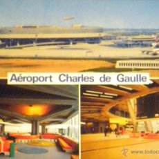 Postales: POSTAL POST CARD AEROPORT CHARLES DE GAULLE AEROPUERTO AVION PLANE. Lote 49139731