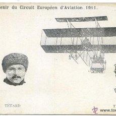 Postales: SOUVENIR DU CIRCUIT EUROPÉEN D´AVIATION 1911. TETARD ET TABUTEAU. Lote 50336919