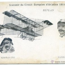Postales: SOUVENIR DU CIRCUIT EUROPÉEN D´AVIATION 1911. KIMMERLING ET BATHIAT. PIONEROS. Lote 50336926