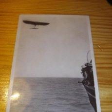 Postales: RARA POSTAL ORIGINAL 1910 MONOPLANO AVION BLERIOT CANAL DE LA MANCHA A INGLATERRA SIN CIRCULAR. Lote 51094200