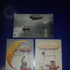 Postales: RARISIMO LOTE ANTIGUA TARJETA POSTAL ZEPPELIN RELIEVE ORIGINAL 1910 NRM PFB IMPECABLES COLECCION. Lote 51094611