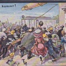Postales: POSTAL ILUSTRADA ZEPPELIN KOMMT . Lote 51711311