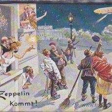 Postales: POSTAL ILUSTRADA ZEPPELIN KOMMT . Lote 51711357