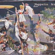 Postales: POSTAL ILUSTRADA ZEPPELIN KOMMT . Lote 51711374