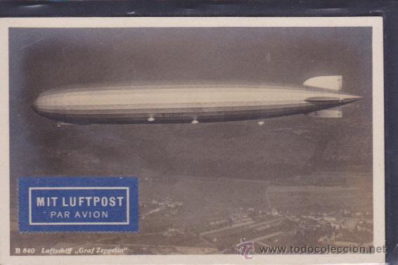 POSTAL GRAF ZEPPELIN (Postales - Postales Temáticas - Aeroplanos, Zeppelines y Globos)