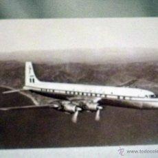 POSTAL AEROPLANOS, DOUGLAS DC-7C, ALITALIA, Nº 82 , CON FICHA TECNICA, MULTIGRAF TERNI, ITALIA