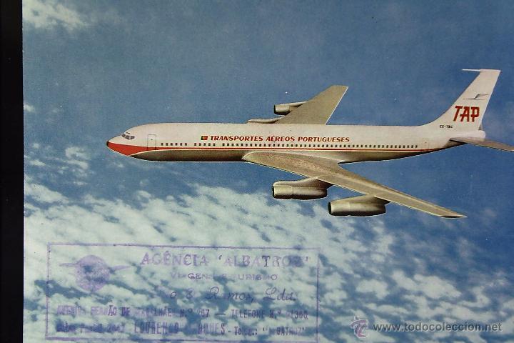 POSTAL, TEMA AVIÓN, TAP, AIR PORTUGAL, BOEING 707-320B, SIN CIRCULAR (Postales - Postales Temáticas - Aeroplanos, Zeppelines y Globos)