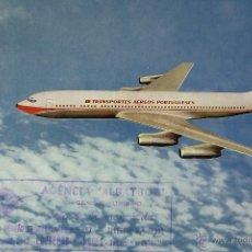Postales: POSTAL, TEMA AVIÓN, TAP, AIR PORTUGAL, BOEING 707-320B, SIN CIRCULAR. Lote 52805228
