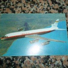 Postales: POSTAL IBERIA JET DOUGLAS SUPER DC 8 AÑOS 60. Lote 53128155