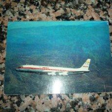 Postales: POSTAL IBERIA JET DOUGLAS SUPER DC 8 CIRCULADA AÑO 69. Lote 53128171