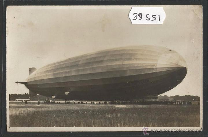 AVIACION - ZEPPELIN - FOTOGRAFICA - (39551) (Postales - Postales Temáticas - Aeroplanos, Zeppelines y Globos)