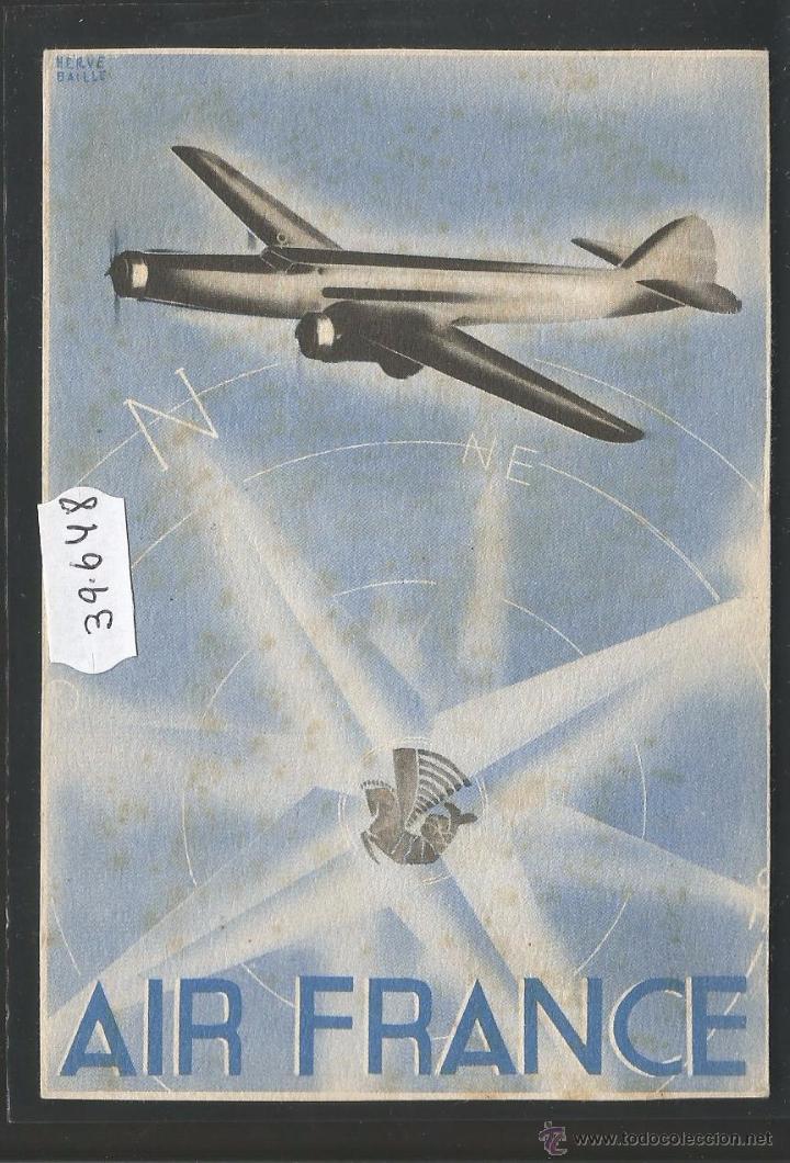 AIR FRANCE - POSTAL DE AVION - (39648) (Postales - Postales Temáticas - Aeroplanos, Zeppelines y Globos)