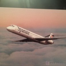 Cartes Postales: POSTAL AVION SPANAIR MD83. Lote 53833174
