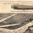 Postales: POSTAL CIRCULADA AÑO 1909 DE LUDWIGSHAFEN A CARTAGENA (MURCIA) - ZEPPELINS LUFTSCHIFF SOBRE MANNHEIM. Lote 54046037