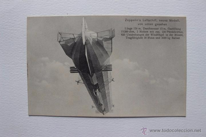 ZEPPELIN'S LUFTSCHIFF, DIRIGIBLE ZEPELIN ALEMÁN, AEROSTATICO. RARA POSTAL ANTIGUA. (Postales - Postales Temáticas - Aeroplanos, Zeppelines y Globos)