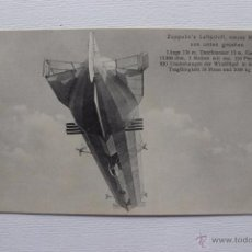 Postcards - Zeppelin's Luftschiff, Dirigible Zepelin alemán, aerostatico. Rara postal antigua. - 54315000