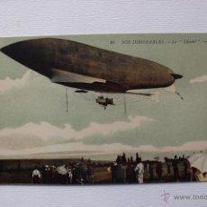 Postales - Postal coloreada Zeppelin francés - La liberté-dirigibles, aerostático, zeppelin. Original de época - 54315049