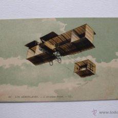 Postcards - Aeroplano Voisin francés tipo dirigible Zepelin o aerostatico. Rara postal antigua. - 54315177