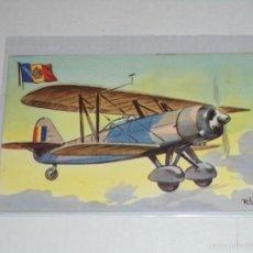 Cartes Postales: POSTAL BIPLANO CAZA SET XV RUMANIA , CHOCOLATE LA ESTRELLA NUM 48. Lote 55330967