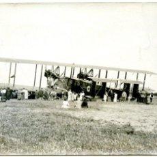 Postales: AEROPLANO, PROBABLEMENTE EN EL PRAT (BARCELONA), HACIA 1920.. Lote 55718479