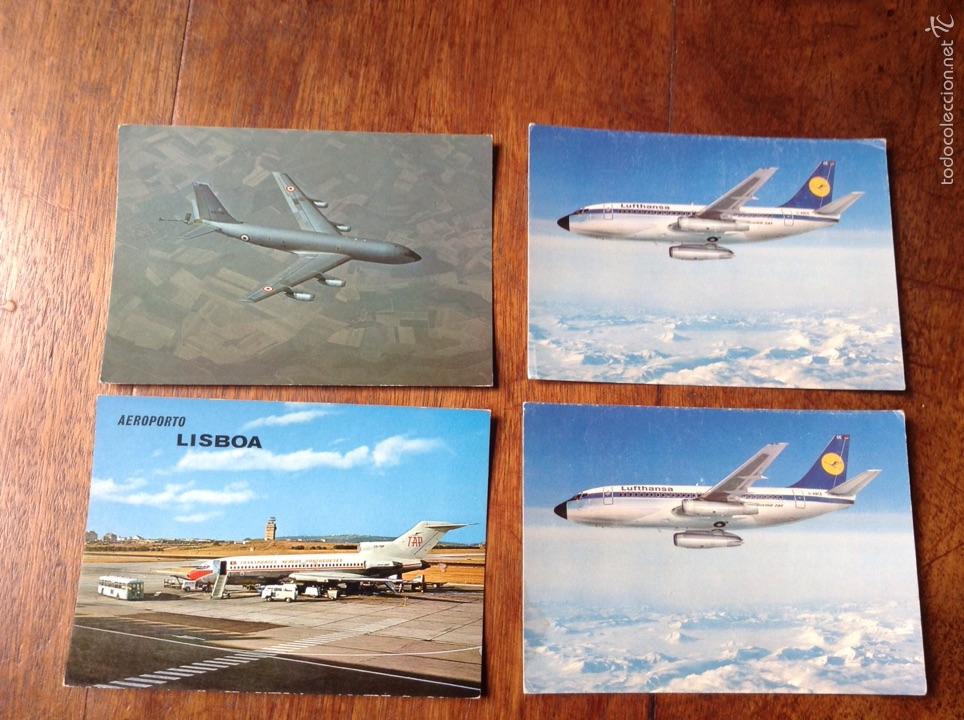 POSTALES AVIONES (Postales - Postales Temáticas - Aeroplanos, Zeppelines y Globos)