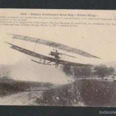 Postales: BIPLAN AMÉRICAIN JUNE BUG WHITE WING.ED.J.HAUSER.PARIS.SIN CIRCULAR.. Lote 57659080