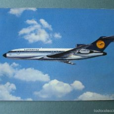 Postales: POSTAL AEROLINEAS LUFTHANSA BOEING 727 EUROPA JET (CIRCULADA 1976). Lote 57781753