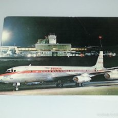 ANTIGUA POSTAL Nº 2 DE MADRID - AEROPUERTO DE BARAJAS - AVION AIRBUS DOUGLAS - IBERIA AÑOS 60