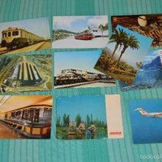 Postales: LOTE 10 POSTALES SIN CIRCULAR - RENFE E IBERIA - MUY BUEN ESTADO. Lote 58217262