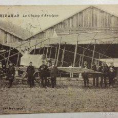 Postales: MIRAMAS. LE CHAMP D'AVIATION. EL CAMPO DE AVIACIÓN. CLICHÉ A. FARRAUD. . Lote 58321886